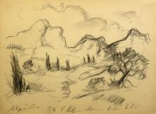 Paul Kleinschmidt German, 1893-1949 (i) Landscape in Arles: Two (ii) In the Stable, 1918 (iii) Three Riders, 1918