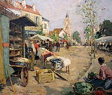 Paul Emile Lecomte French, 1877-1950 Le Marchand d'Etoffes
