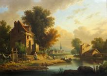 Follower of Philip de Loutherbourg Dutch Landscape