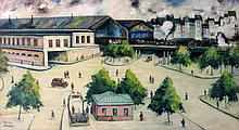 Elisee Maclet French, 1881-1962 Gare Paris Saint-Lazare