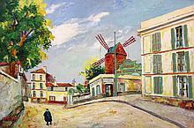 Elisee Maclet French, 1881-1962 Le Moulin de la Galette