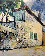 Elisee Maclet French, 1881-1962 Rue du Mont-Cenis