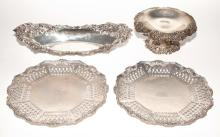 Group of Four American Sterling Silver Table Articles