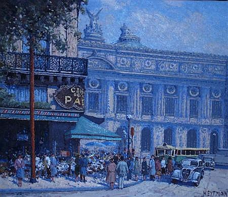 Willem Heytman Dutch, b. 1950 Opera, Cafe de la Paix, 1956