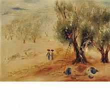 Reuven Rubin Israeli, 1893-1974 Olive Trees Near Safed, circa 1940
