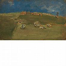 Max Liebermann German, 1847-1935 Heuernte in Tirol, 1878