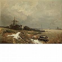Louis Apol Dutch, 1850-1936 A Late Winter's Thaw