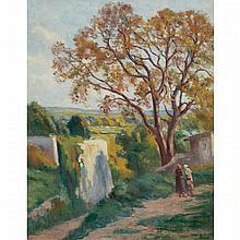 Maximilien Luce French, 1858-1941 Rolleboise, Le Sentier de l'Eglise   Signed Luce (lr) Oil on canvas 31...