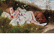 Sir William Blake Richmond British, 1842-1921 Henry Dawson-Green   Oil on canvas 30 x 48 1/16 inches (76.2 x 122...