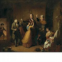 Examination of a Witch by Thompkins H Matteson Historic Art Print