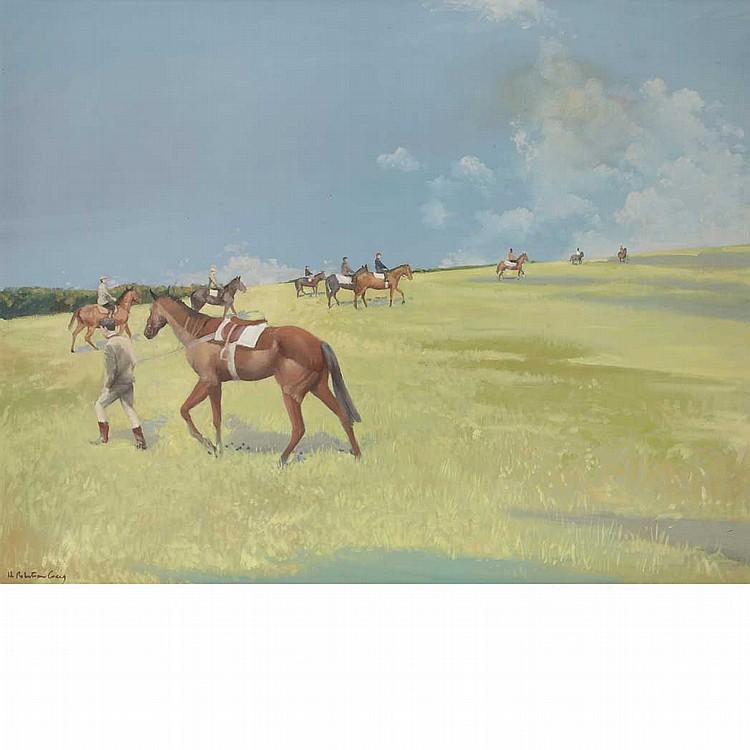 Henry Robertson Craig British, 1916-1984 Morning Gallops, The Curragh, Ireland
