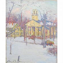 Clara D. Davidson American, 1874-1962 Church in the Snow