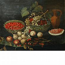 European School 20th Century Still Life with Fruit on a Table Top