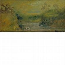 Louis Michel Eilshemius American, 1864-1941 Bathing in the Waters, 1918