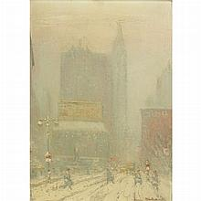 Johann Berthelsen American, 1883-1972 Looking North on Fifth Avenue, from 23rd Street