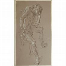 Paul Cadmus American, 1904-1999 Study for Waiting Dancer, 1972