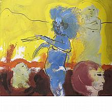 Robert Beauchamp American, 1923-1995 Blue Figure, 1965