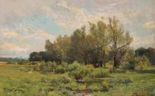 Hugh Bolton Jones American, 1848-1927 Landscape in Spring
