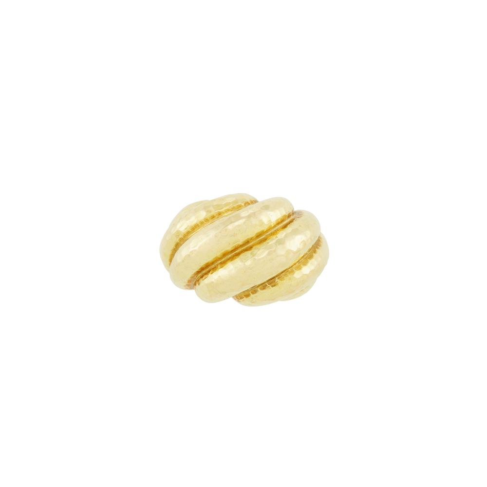 Hammered Gold Dome Ring, David Webb