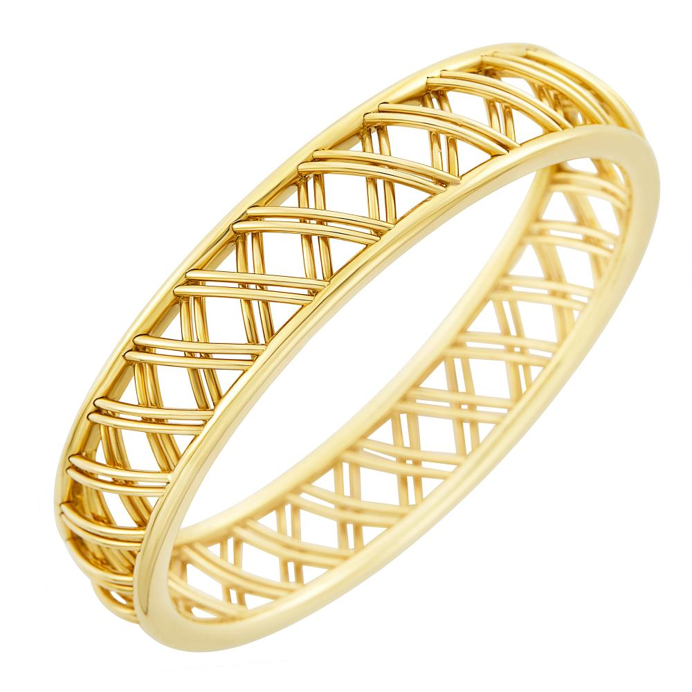 Gold 'Trellis' Bangle Bracelet, Tiffany & Co., Paloma Picasso