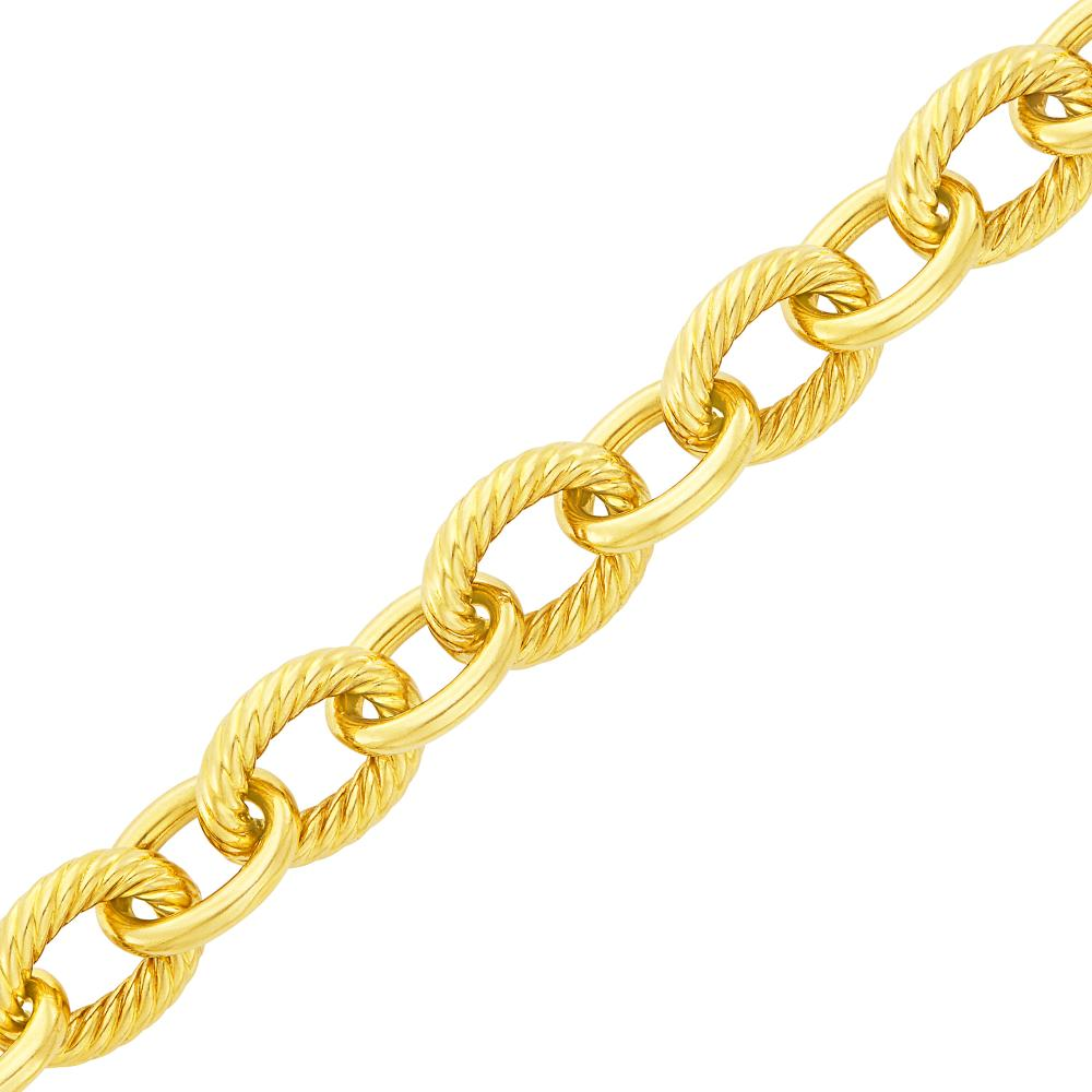 Gold Link Bracelet, David Yurman