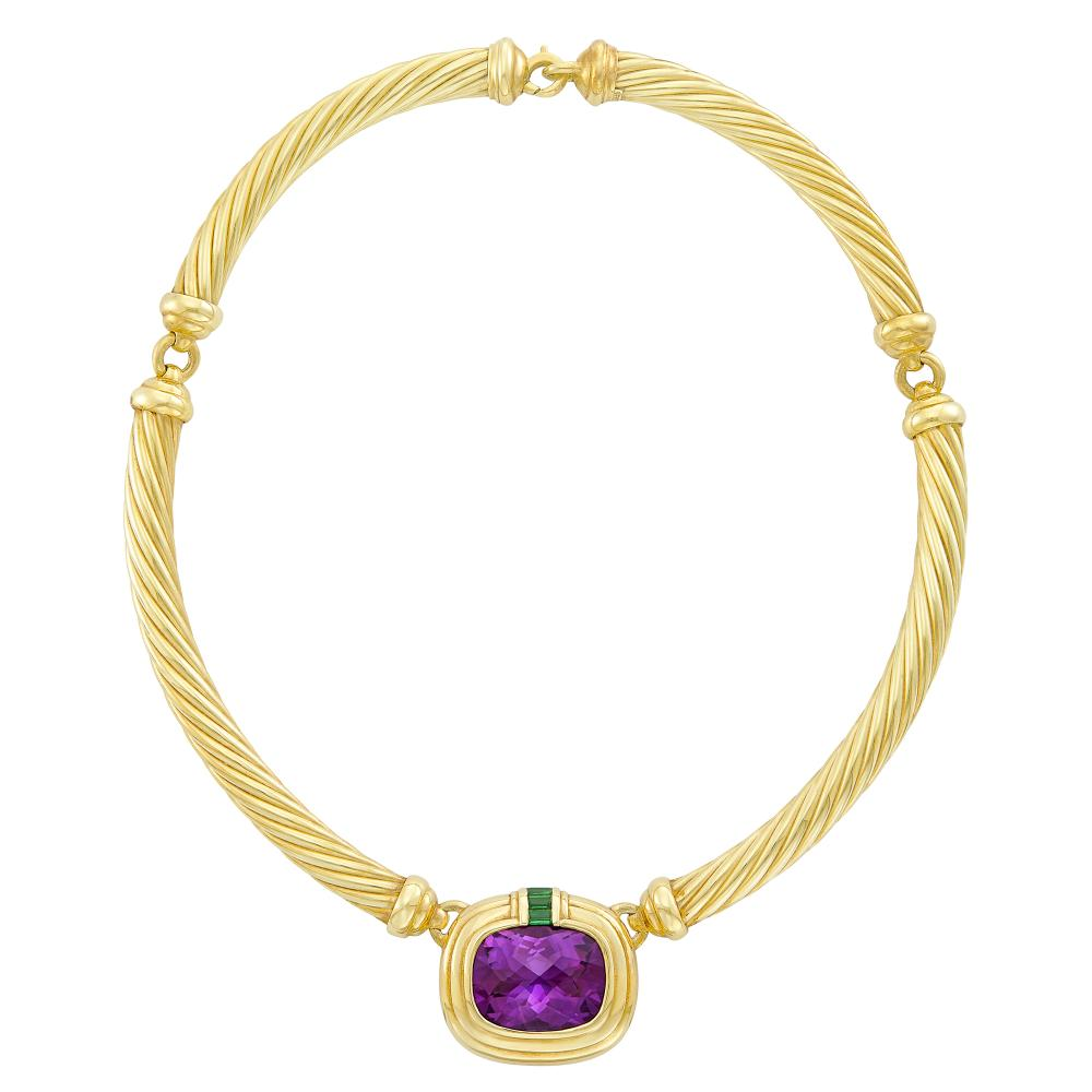 Gold, Amethyst and Tourmaline Necklace, David Yurman