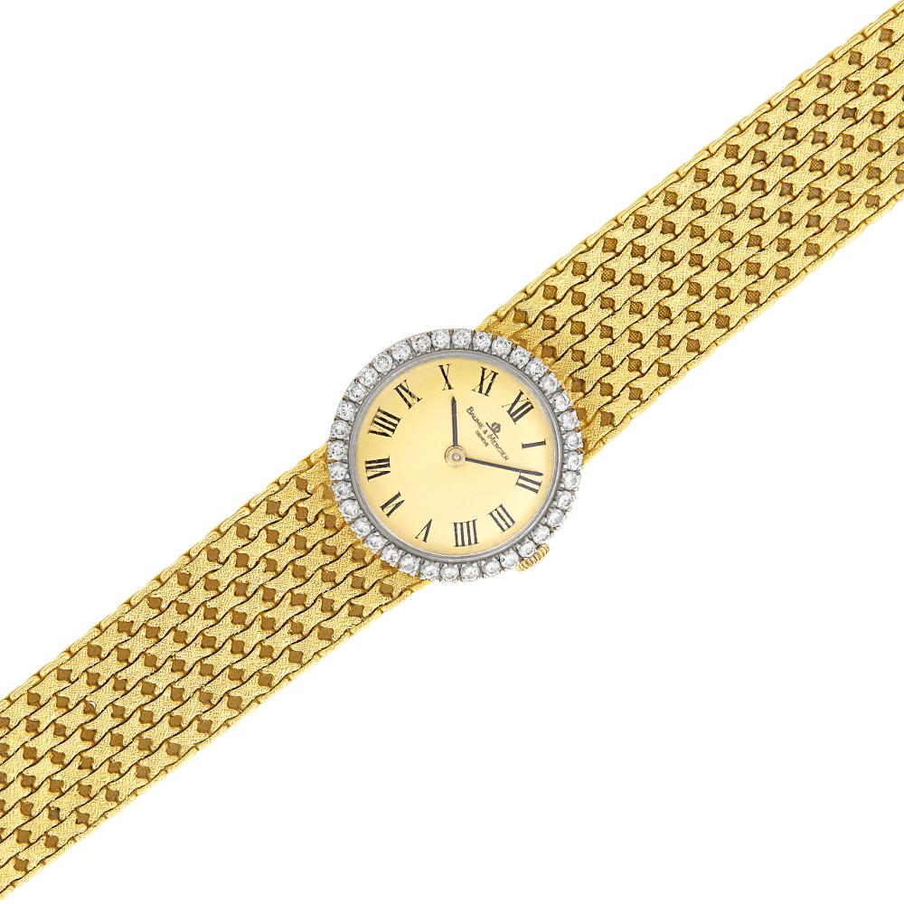 Gold and Diamond Wristwatch, Baume & Mercier