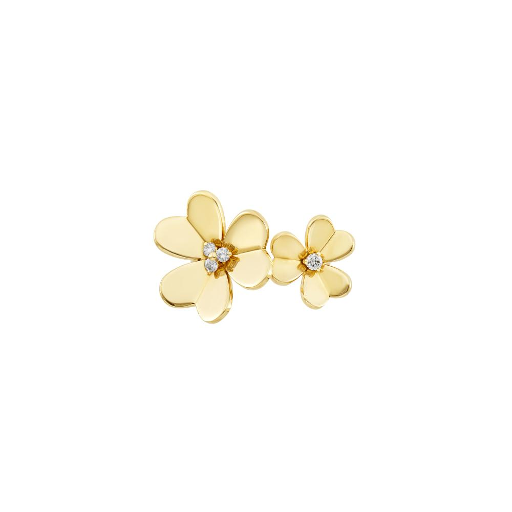 Gold and Diamond Double Flower 'Frivole' Ring, Van Cleef & Arpels