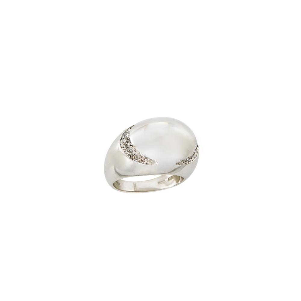 White Gold and Diamond Dome Ring, Bulgari