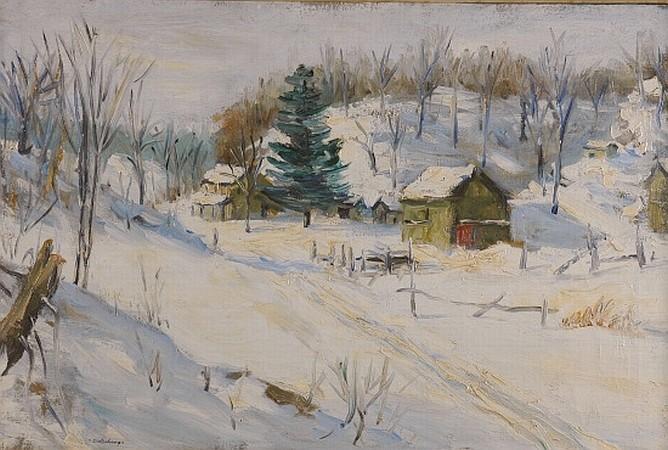 Hendrik (Henry) J. Glintenkamp 1887-1946 Winter Landscape with Spruce, 1909