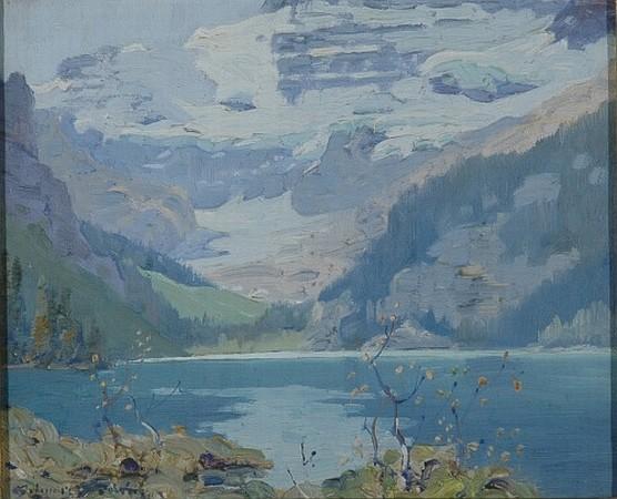 Belmore Browne 1880-1954 Lake Louise, Canadian Rockies, August 1924