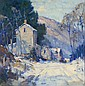 Junius Allen 1898-1962 Country Road in Winter, Junius Allen, Click for value
