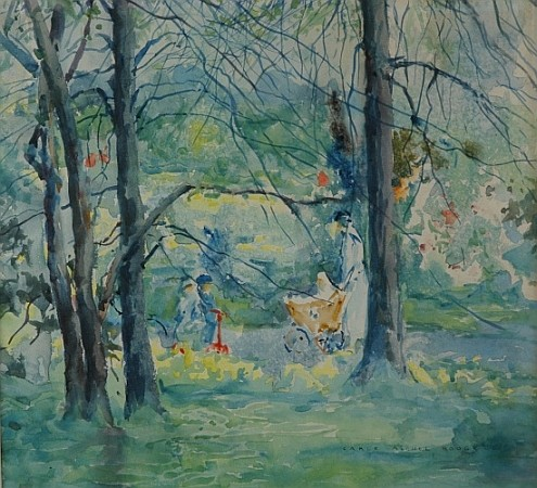 Carle Michel Boog 1877-1967 Early Spring, Central Park