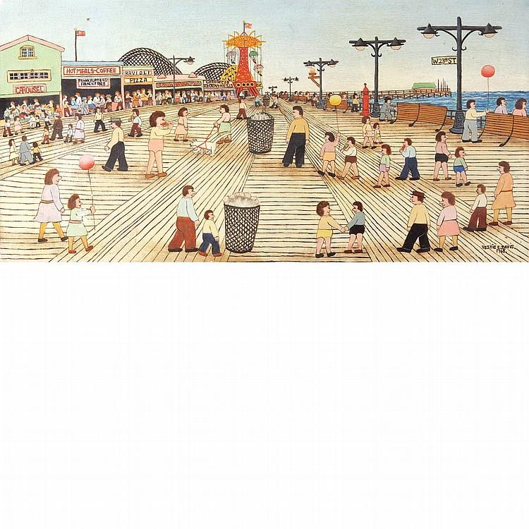 Vestie E. Davis American, 1903-1978 Coney Island, 1968