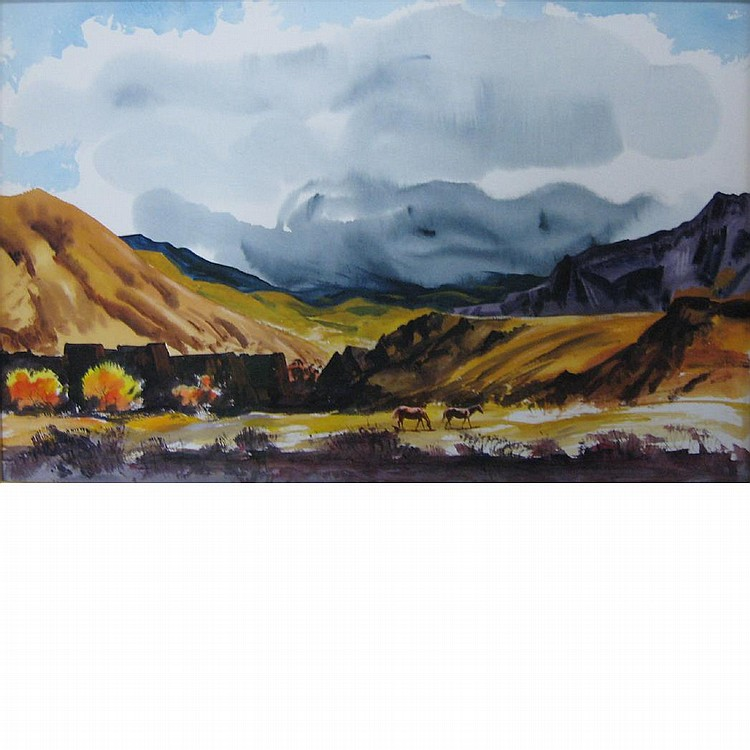 Edwin L. Fulwider American, 1913-2003 Storm, Salmon River Valley, Idaho