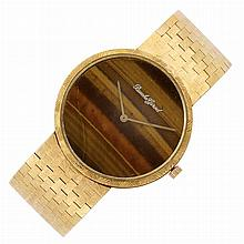 Gold and Tiger's-Eye Wristwatch, Bueche Girod
