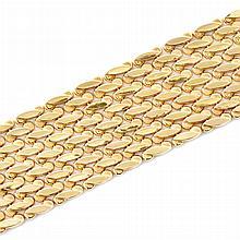 Wide Gold Bracelet