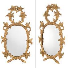 Pair of George III Giltwood Mirrors