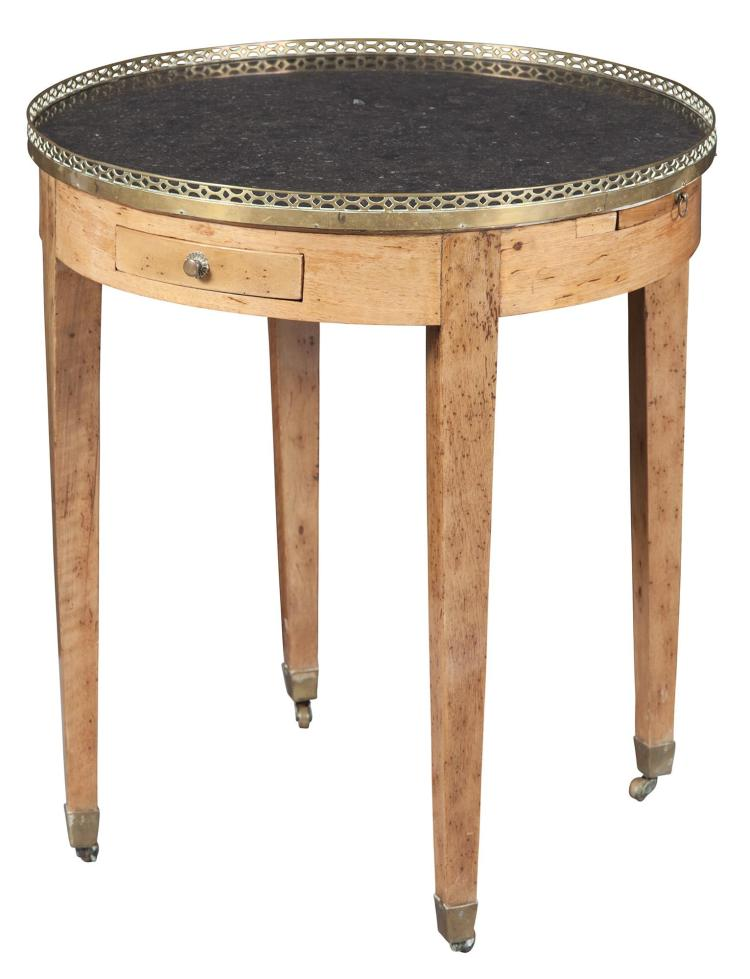 Directoire Brass-Mounted Fruitwood Bouillotte Table