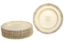 Set of Twelve Tiffany & Co. Sterling Silver Gilt Dinner Plates