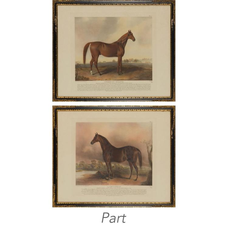 After Edward Troye FAMOUS AMERICAN THOROUGHBREDS Eight color offset prints
