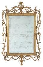 George III Gilt Carton-Pierre Mirror