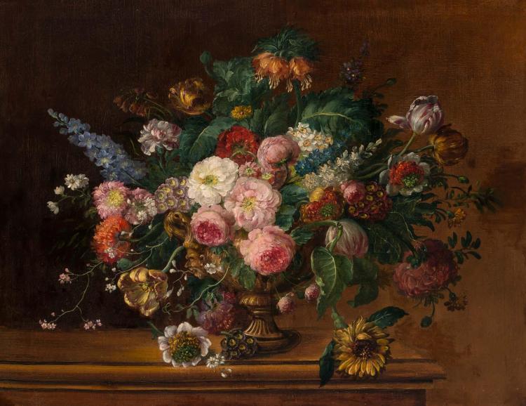 Dutch School 19th/20th Century Floral Still Life in an Urn