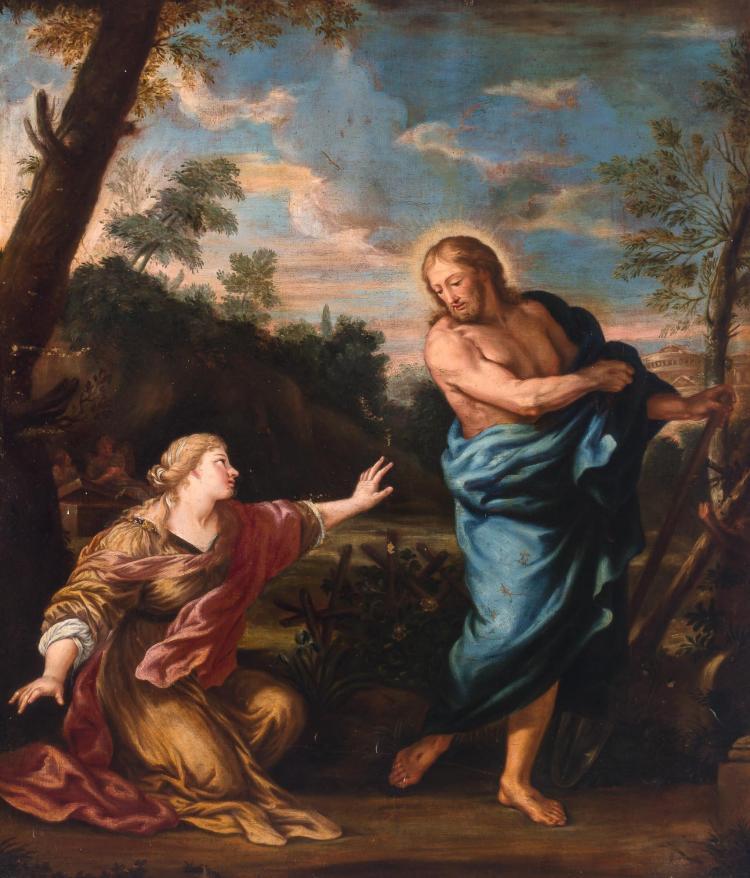 Roman School 17th/18th Century Noli me Tangere (Christ in the Garden)