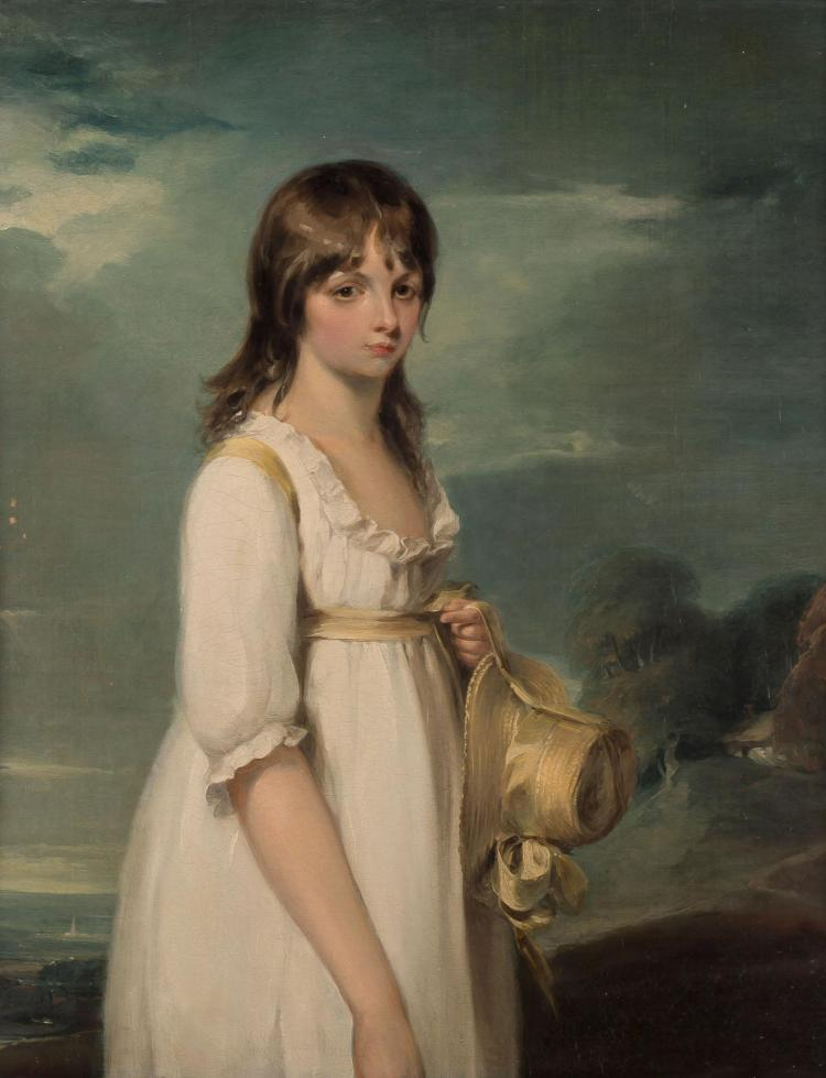 Attributed to William Owen, R. A. Portrait of a Young Girl