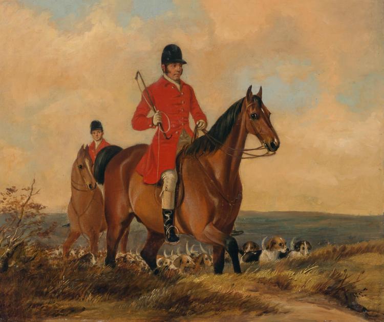 William Barraud British, 1810-1850 The Start of the Hunt, 1848