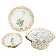 Group of Royal Copenhagen Porcelain 'Flora Danica' Table Articles