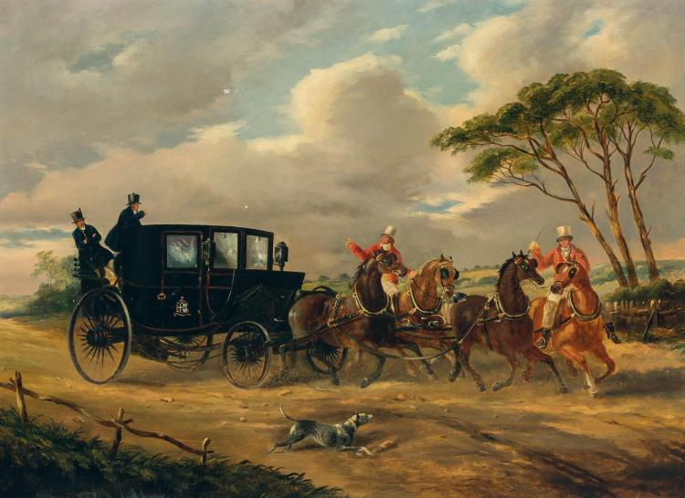 English School 19th Century Coaching Scene