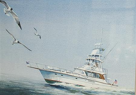 (i) John T. McCoy Jr. American, b. 1905 Sea Hawk (ii) 20th Century School Fall River Landscape with Sailboats
