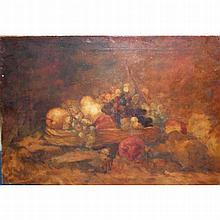 Belgian School 19th/20th Century Still Life with Fruit